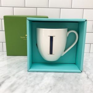 "Authentic Kate Spade ""It's Personal"" Initial Mug I"